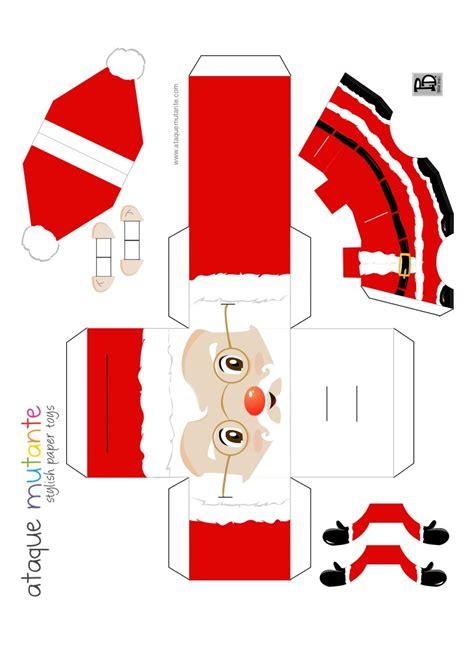 imagenes navideñas para armar y colorear papanoel para armar y pegar