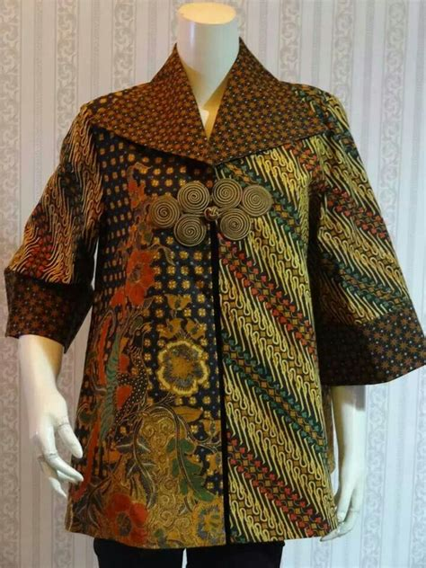 Linen Outer Batik Outer the 25 best gaun batik modern ideas on dress