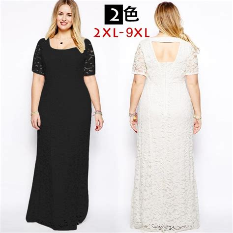 Big Size Lace Dress M 6xl 2016 lace wedding dress plus size maxi dress