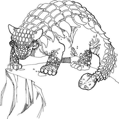 euoplocephalus coloring page ankylosaurus ankylosaurus stand at the edge of the