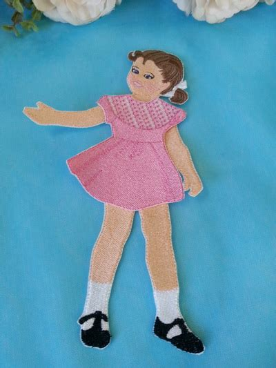 design doll full download ewc035 vintage paper doll 2 embroidery weekly