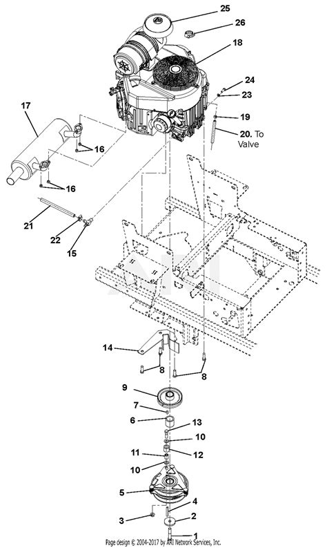 gravely    pro turn  kawasaki  deck parts diagram  engine