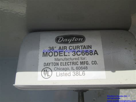 dayton air curtain dayton 3c668a painted steel air curtain cabinet 36 quot width