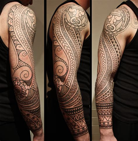 mens polynesian tattoo designs sleeve tattoos page 33