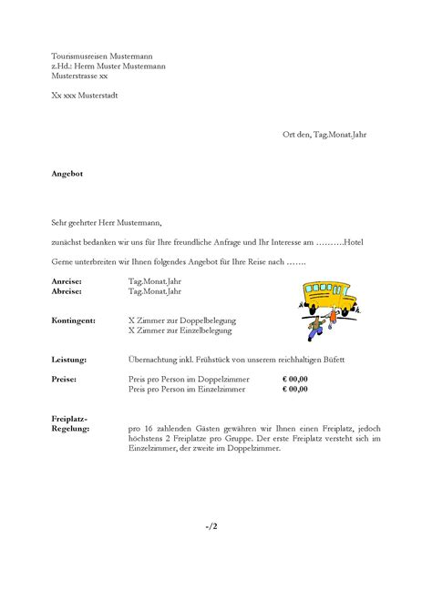 Angebot Muster Hotel Angebotsschreiben Gruppe Hotel Lexikon Fandom Powered By Wikia