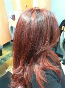 hair with copper lowlights red with copper highlights lowlights with a mix of ombr 233