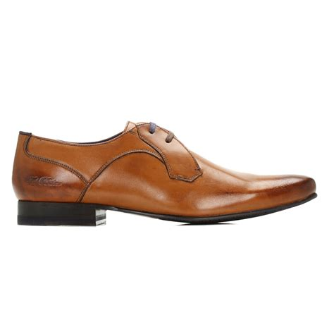 ted baker mens brown martt 2 leather derby shoes lace