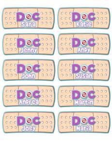 doc mcstuffins favor tag doc mcstuffins name labels by