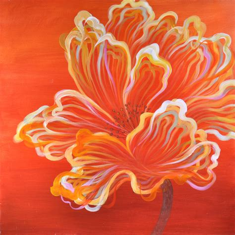 orange expression canvas print wall art
