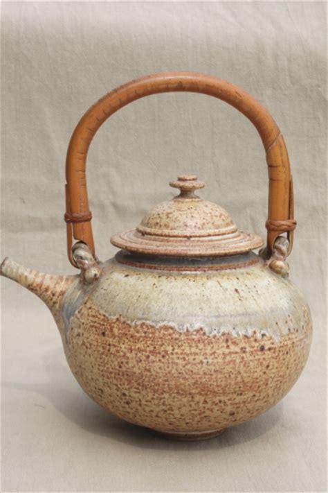 Handmade Studio - rustic handmade studio pottery stoneware tea pot
