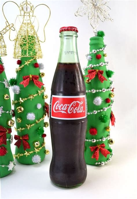 coca cola glass bottle christmas tree craft hometalk