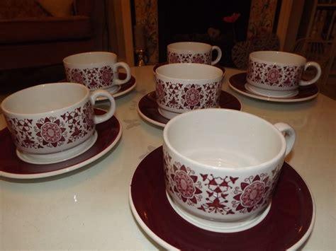 shabby chic tea set shabby chic teaset retro teaset arklow pottery 1950s retro