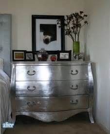 silver painted chest of drawers refinishing painting