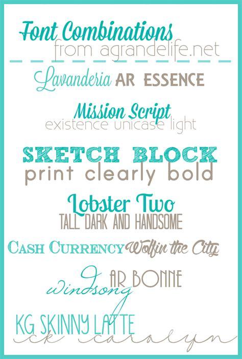 free font combinations a grande life