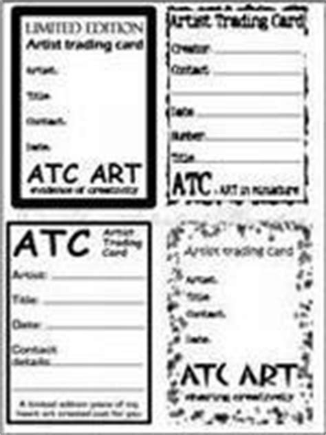 artist trading card back template atc st backs