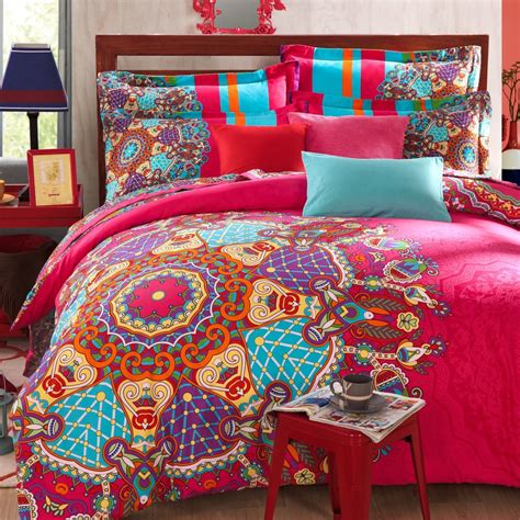 Bohemian Bedding Sets 4pcs Bohemian Bedding Boho Bedding Size Duvet Cover Set In Bedding Sets From Home