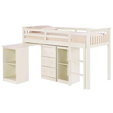 Childrens Sleep Station Mid Midi Sleeper Bed Frame White Mid Sleeper Bed Frame