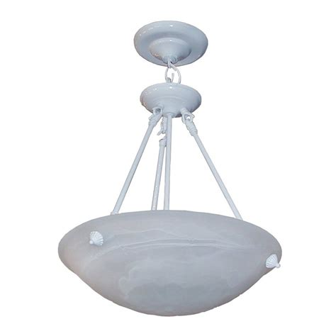 Glass Bowl Pendant Light Shop Whitfield Lighting 16 In White Alabaster Glass Bowl Pendant At Lowes