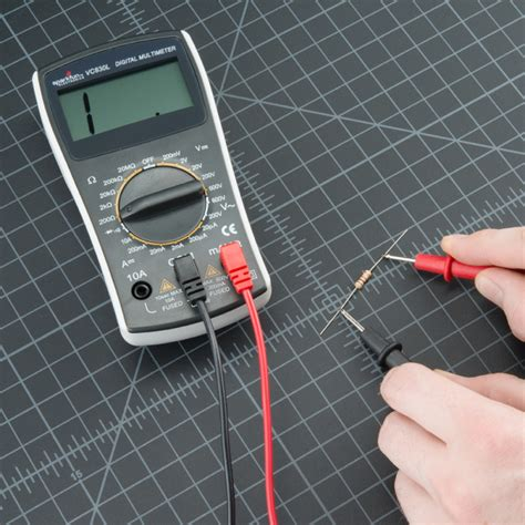 how to measure resistor ohm how to use a multimeter learn sparkfun
