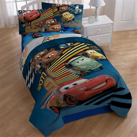 disney cars toddler bed set disney pixar cars grand prix 7 piece bed in a bag with