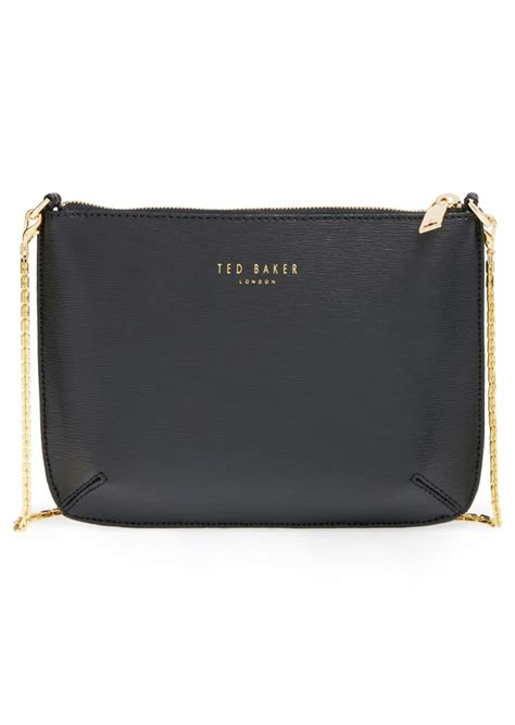 ted baker ted baker london textured leather crossbody bag