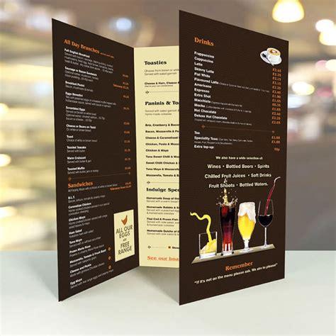 Table Menu Restaurant Large A2 Table Menus Creased 3xa4 Menus Laminated