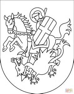 saint george killing the dragon coloring page free