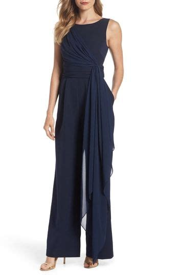 eliza  cascading tie jumpsuit   jumpsuit wedding jumpsuit jumpsuits  women