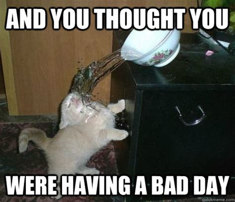 Bad Day Meme - and you thought you were having a bad day misc quickmeme