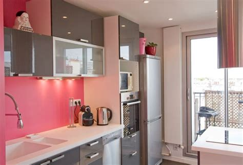 interior design trends  pink kitchen