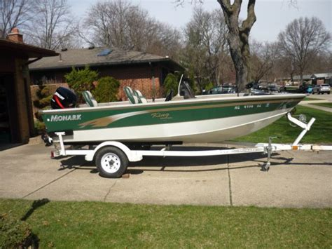 used deep v aluminum boats for sale 1999 monark king 16 1 2 aluminum fishing boat deep v 50hp