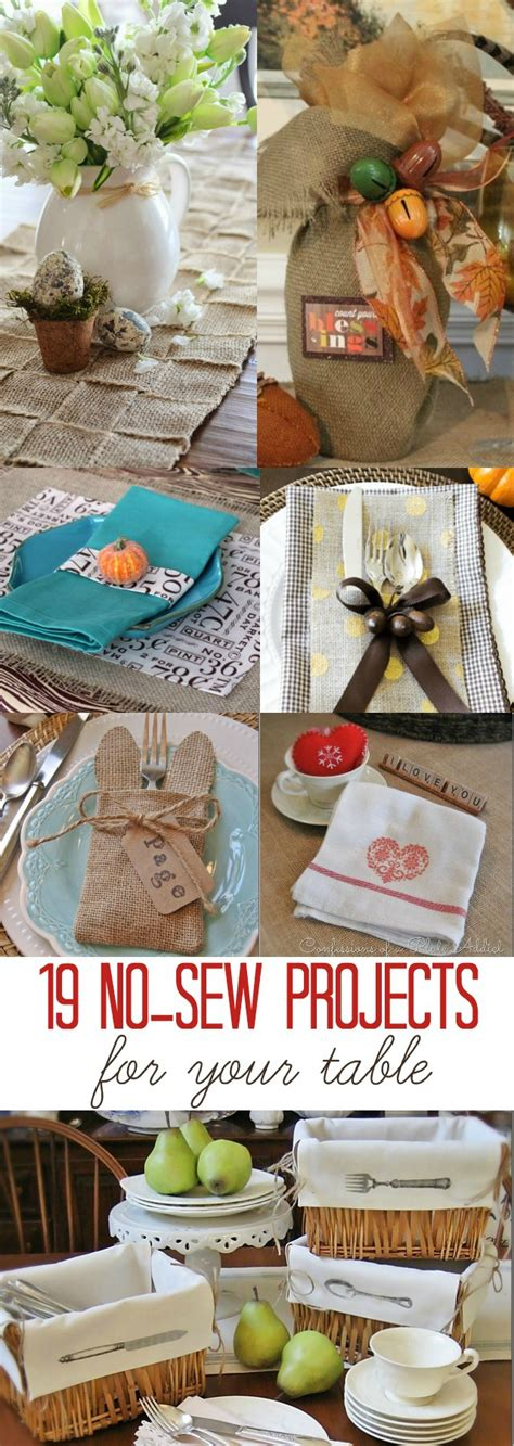 no sew craft projects 19 no sew crafts for your table atta says