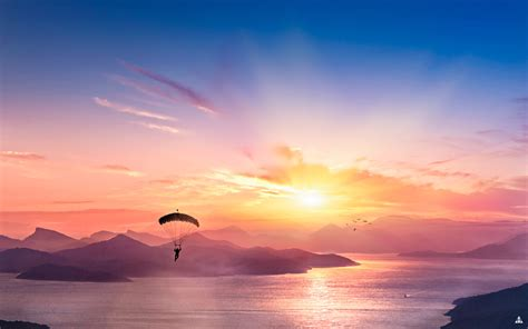 parasailing scene  wallpapers wallpapers hd