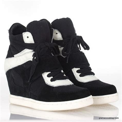 Sneakers Wedges Black White sepatusekolah black and white wedges shoes images