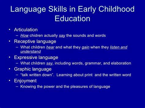 language development language development through the curriculum