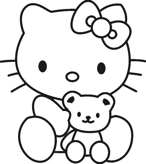 hello kitty coloring pages kids coloring home