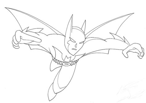 batman beyond lineart by enker on deviantart