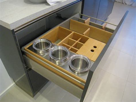 Kitchen Drawer Organizers by Hacker Kitchen Showroom In Germany Modern Kitchen