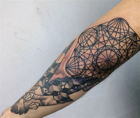 geometric tattoo elbow top 100 best elbow tattoos for men masculine design ideas