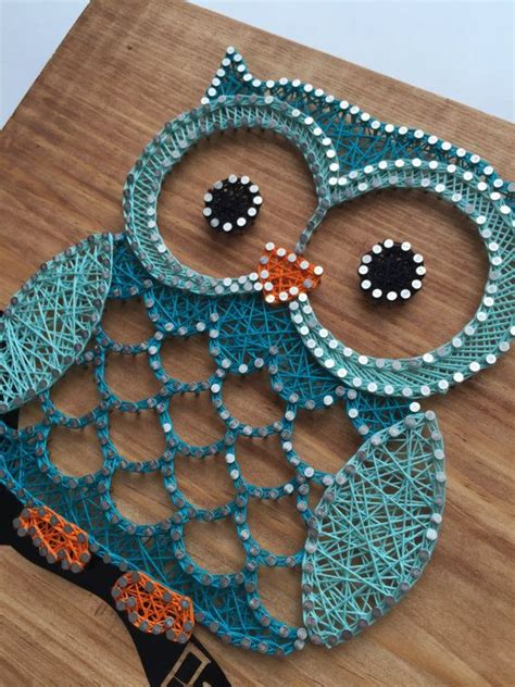 Owl String Template - owl string 45 00 custom made to order 12 quot x11