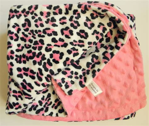Zebra Print Baby Blankets by Leopard Minky Baby Blanket Animal Print Pink Chenille Dot