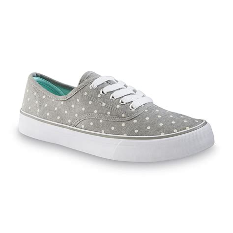 joe boxer shoes joe boxer s sonoma gray white polka dot casual shoe