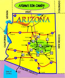 south arizona map map of arizona s country on rimcountry