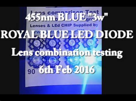 led len test 455nm led lens test 30 45 60 90 degree lenses 06th