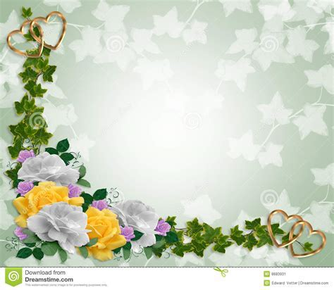 Ivy And Yellow Roses Floral Border Stock Image   Image