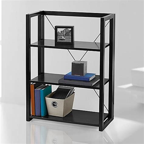 bed bath and beyond bookshelf wooden folding and stacking bookcase bed bath beyond