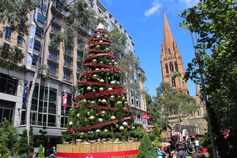 a christmas tree in melbourne travellingandeating