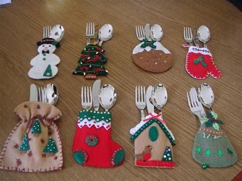 imagenes adorns navidad en miniatura 35 ideas para hacer fundas navide 241 as para los cubiertos ideas navidad y cubiertos