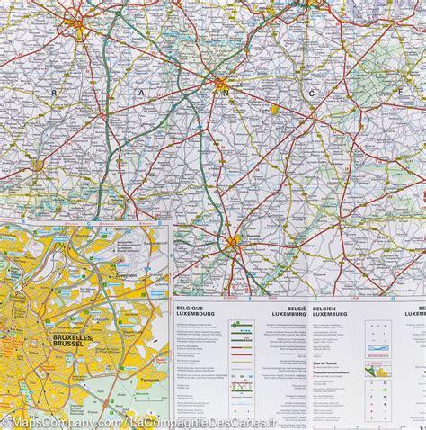 belgium and luxembourg map map of belgium luxembourg hallwag mapscompany