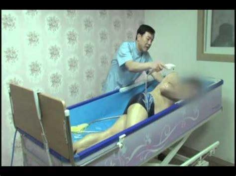 bathtub bed shower trolley a bed with bathtub youtube